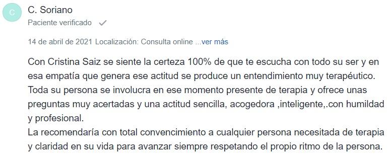 C.Soriano comentario
